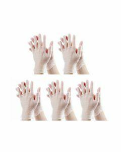 5x Stockhunter Vinyl-Handschoenen gepoederd Maat L 100st