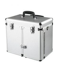 Sibel Maxi aluminium koffer met trolley Zilver