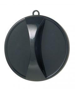 Handspiegel zwart 29cm