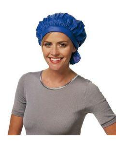 Kunststof permanentmutsje met klittenband Blauw