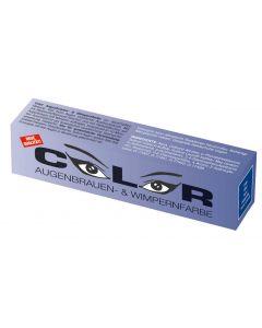 Color Color wimper- en wenkbrauwverf blauw
