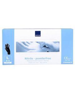 Abena Nitril-Handschoenen Classic poedervrij Maat L zwart 100st