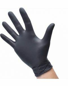 Diversen Nitril-Handschoenen poedervrij Maat M Zwart 100st