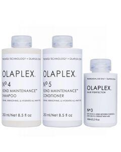 Beschadigd haar pakket Olaplex No.3 + 4 + 5