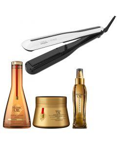 L'Oréal Steampod 3.0 + Mythic Oil set - dik haar