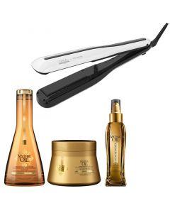 L'Oréal Steampod 3.0 + Mythic Oil set - fijn haar