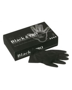 Sinelco Latex Handschoenen 20st Zwart S