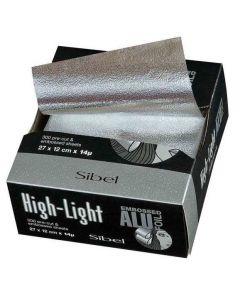 Sibel Precut Embossed Aluminium Sheets 300st 27x12cm
